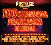 Cover  - Nostalgie - 100 chansons françaises de légende