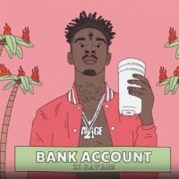 Cover 21 Savage - Bank Account