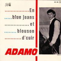 Cover Adamo - En blue jeans et blouson d'cuir