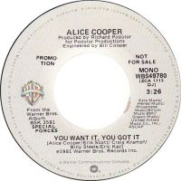 Cover Alice Cooper - You Want It, You Got It