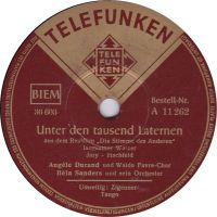 Cover Angèle Durand - Unter den tausend Laternen