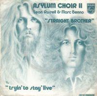 Cover Asylum Choir II - Leon Russell & Marc Benno - Straight Brother