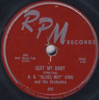 "Cover B.B. ""Blues Boy"" King - Quit My Baby"