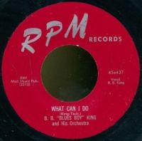 "Cover B.B. ""Blues Boy"" King & Orchestra - What Can I Do (Just Sing The Blues)"