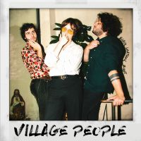Cover Black Leather Jacket - Village People