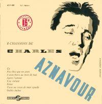Cover Charles Aznavour - 8 chansons de Charles Aznavour