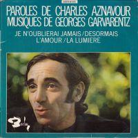Cover Charles Aznavour - Je n'oublierai jamais