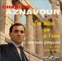 Cover Charles Aznavour - J'en déduis que je t'aime