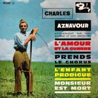 Cover Charles Aznavour - L'amour et la guerre