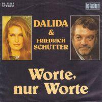 Cover Dalida & Friedrich Schütter - Worte, nur Worte