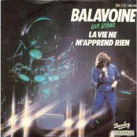 Cover Daniel Balavoine - La vie ne m'apprend rien