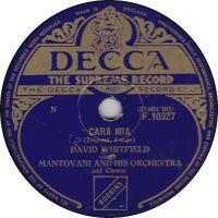 Cover David Whitfield with Mantovani & His Orchestra - Cara mia