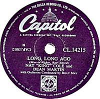 "Cover Dean Martin & Nat ""King"" Cole - Long Long Ago"