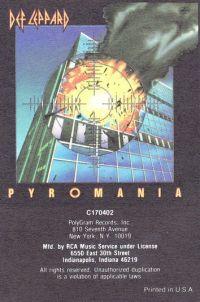 Cover Def Leppard - Pyromania