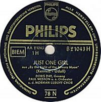 Cover Doris Day - Just One Girl
