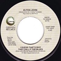 Cover Elton John - I Guess That's Why They Call It The Blues