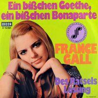 Cover France Gall - Ein bißchen Goethe, ein bißchen Bonaparte