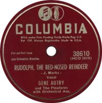Cover Gene Autry & The Pinafores - Rudolph, The Red-Nosed Reindeer