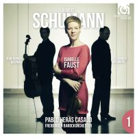 Cover Isabelle Faust / Jean-Guihen Queyras / Alexander Melnikov - Violin Concerto / Piano Trio - Robert Schumann