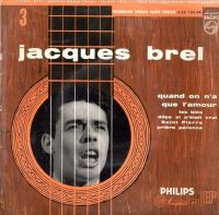 Cover Jacques Brel - Quand on n'a que l'amour