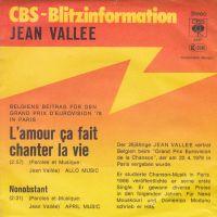 Cover Jean Vallée - L'amour ça fait chanter la vie