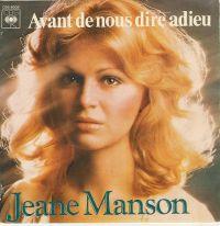 Cover Jeane Manson - Avant de nous dire adieu