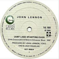 Cover John Lennon - (Just Like) Starting Over