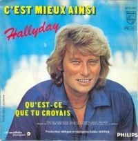 Cover Johnny Hallyday - C'est mieux ainsi