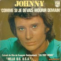 Cover Johnny Hallyday - Comme si je devais mourir demain