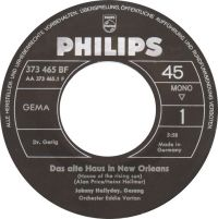 Cover Johnny Hallyday - Das alte Haus in New Orleans