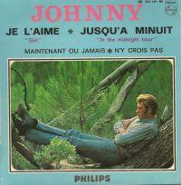 Cover Johnny Hallyday - Je l'aime