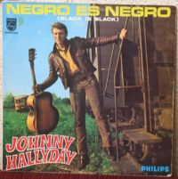 Cover Johnny Hallyday - Negro es negro