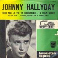 Cover Johnny Hallyday - Pour moi la vie va commencer