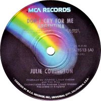 Cover Julie Covington - Don't Cry For Me Argentina