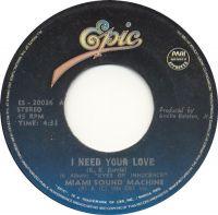 Cover Miami Sound Machine - I Need Your Love