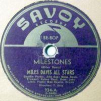 Cover Miles Davis All Stars - Milestones