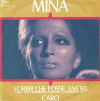 Cover Mina - Vorrei che fosse amore