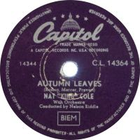 """Cover Nat """"King"""" Cole - Autumn Leaves"""