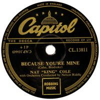 "Cover Nat ""King"" Cole - Because You're Mine"