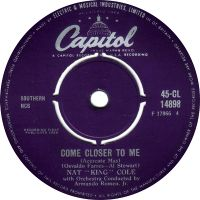 """Cover Nat """"King"""" Cole - Come Closer To Me"""