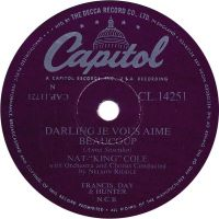 "Cover Nat ""King"" Cole - Darling je vous aime beaucoup"