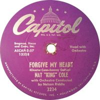 """Cover Nat """"King"""" Cole - Forgive My Heart"""
