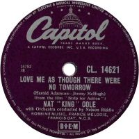 """Cover Nat """"King"""" Cole - Love Me As Though There Were No Tomorrow"""