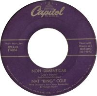 "Cover Nat ""King"" Cole - Non dimenticar (Don't Forget)"