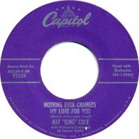 """Cover Nat """"King"""" Cole - Nothing Ever Changes My Love For You"""