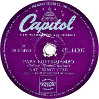 "Cover Nat ""King"" Cole - Papa Loves Mambo"