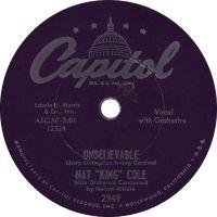 "Cover Nat ""King"" Cole - Unbelievable"