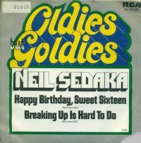 Cover Neil Sedaka - Happy Birthday Sweet Sixteen