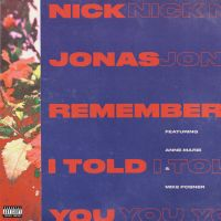 Cover Nick Jonas feat. Anne-Marie & Mike Posner - Remember I Told You