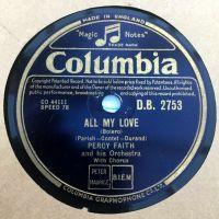 Cover Percy Faith & Orchestra - All My Love (Bolero)